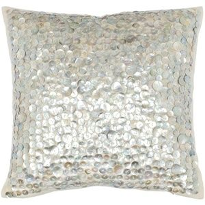 "*HOST PICK* Safavieh 22"" Mother of Pearl Pillow"